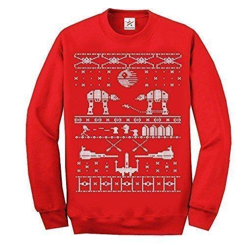 Maglione in tema natalizio, a maniche lunghe, con divertente motivo stampato ispirato alla Morte...