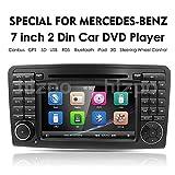 Din-Autoradio mit 7-Zoll-Doppelt-Auto-GPS-Navigation 2 für Mercedes-Benz ML-KLASSE W164 (2005-2012) GL-KLASSE X164 (2005-2012) DVD-Player GPS-Navigations-Car-PC-Stereo-Kopfeinheit