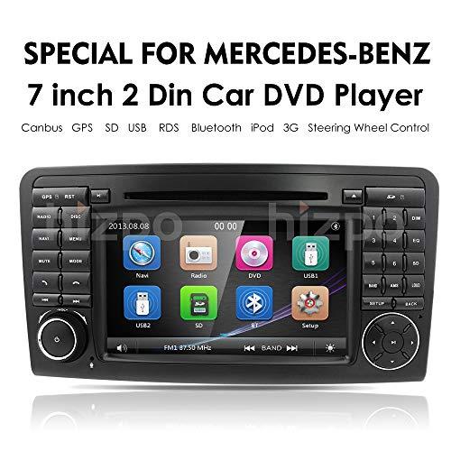 "hizpo Car GPS Navigation in Dash Double 2 Din Radio for Mercedes Benz ML Class W164 2005-2012 & ML300 & ML350 & ML450 & ML500 DVD Player GPS Navigation 7"" Car PC Stereo Head Unit"
