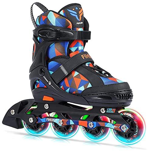 FIHUNY Adjustable Inline Skates for Kids,Roller Blades Skates with...