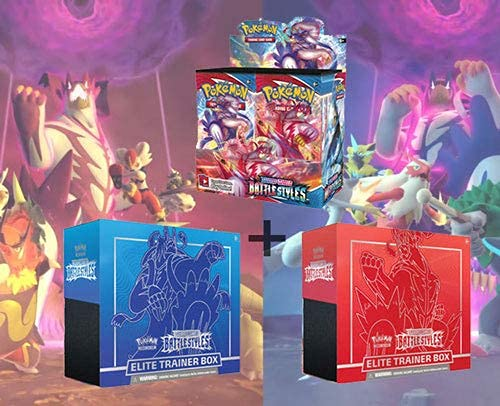 Pokemon TCG Sword and Shield Battle Styles Booster Box + Both Elite Trainers - 52 Total Booster Packs