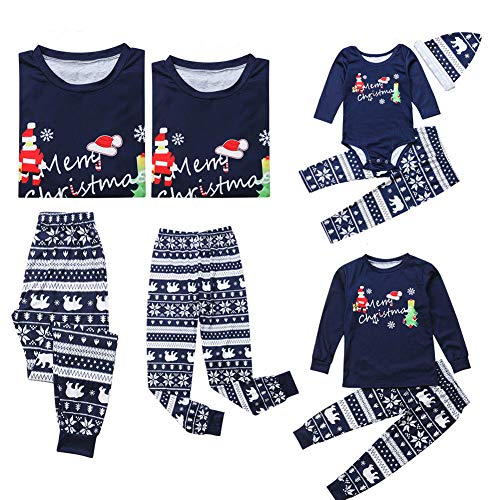Matching Family Pajamas Merry Christmas Sleepwear Holiday PJs Shirt Pant Set