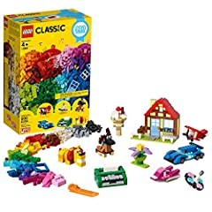 Includes a perfect mix of LEGO bricks and pieces for creating classic toys, including eyes, wheels, windows doors and hinges Features bright and colorful LEGO bricks and pieces that allow for open-ended creative play This construction toy provides 3 ...