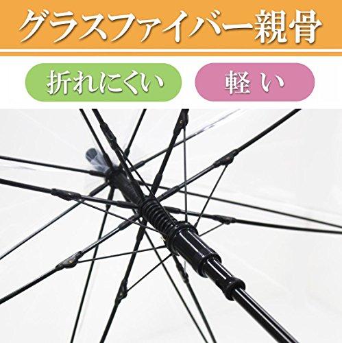 『弘懋 TANPOPO 65cmグラスファイバービニール傘滑り止め(ジャンプ)黒 60317』の4枚目の画像
