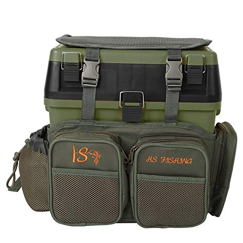 Q-HL Fishing Tackle Bag Boxes Backpack Fishing Seat Box Backpack Fishing Stalking Carrier For Fishing Outdoor Sports Camping Hiking - Green