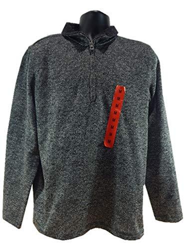 Weatherproof Vintage Men's ¼ Zip Sweater Fleece Pullover (M, Black)