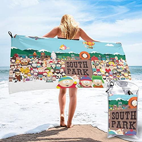 South Park schnelltrocknendes Handtuch, mit Packtasche und Karabiner, geeignet für Schwimmen, Camping, Reisen, Yoga, Mikrofaser Badetuch
