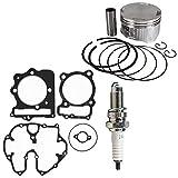 NICHE Gasket Piston Ring Spark Plug Kit Combo For Honda 1996-2014 TRX400EX TRX400X XR400R 13011-KCY-670