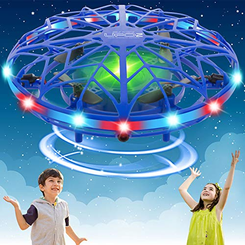 KToyoung Hand Operated Drones for Kids Adults,Mini Drone Small Flying Ball Toy Mini UFO Drone Toy Indoor Outdoor Motion Sensor Helicopter Ball Toys for Kids 6 7 8 9 10 and Up Years Girls Boys Gift