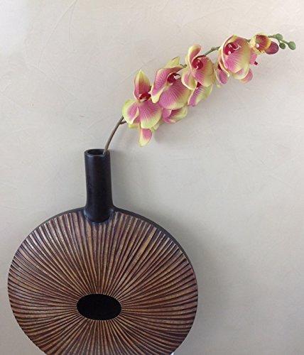 Orchideeentweig 107 cm XXL groen roze zijden bloemen kunstbloemen kunstmatige orchidee als echt