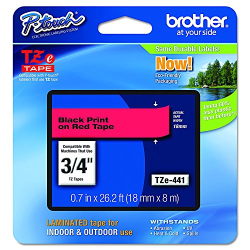 Brother Genuine P-touch TZE-441 Tape, 3/4