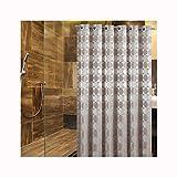 Lafeil Badewannenvorhang Duschvorhang Khaki Kreist 240x220cm Gewebe Badewannenvorhang Wasserdichten Wasserabweisenden Duschvorhängen EIN Anti-Schimmel