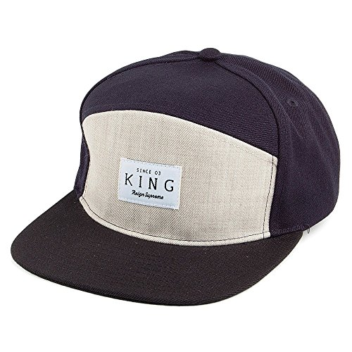 Casquette Strapback Krest White Label bleu marine-beige-noir KING APPAREL - Bleu marine-Noir - Ajustable