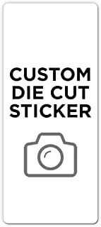 """250 Rectangle Custom Die Cut Stickers 3"""" x 7"""" for Laptops, Windows, Cell Phones, Cars. Upload Your own Image, Logo, or Des..."""