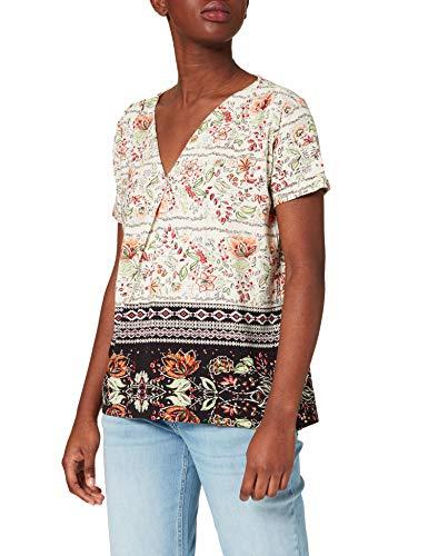Desigual TS_CRACOVIA Camiseta, Blanco, XL para Mujer