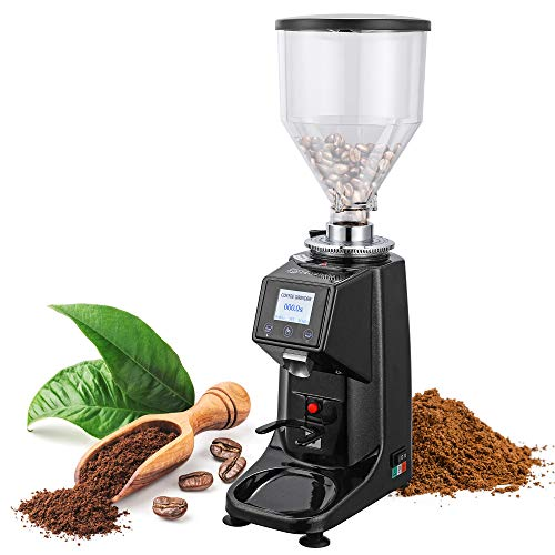 Huanyu Electric Coffee Grinder Professional Coffee Machine Commercial&Home Grinding Machine Automatic Burr Grinder 250W 19 Gear Fine - Coarse Grind Size Setting Stainless Steel Cutter Pulverizer 1000G