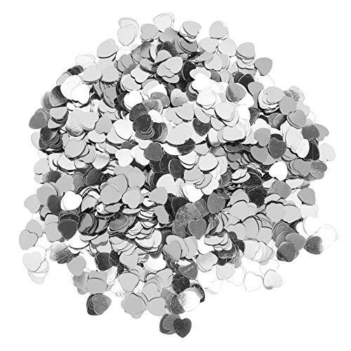 SALUTUYA 100 g de Lentejuelas de San Valentín para Embalaje de Regalo para Invitaciones de Fiesta(Silver)