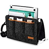 LESES Bedside Pocket Organizer Bedside Caddy for Bed Storage Organizer with Buckles for Loft Caddy Holder with Large Pockets for Laptop, Magazine, Remote Holder, Using in Dorm,Kids Bunk Bed, Gift