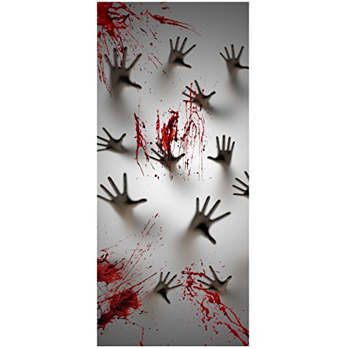 Joiedomi Halloween Haunted House Decoration Window Door Cover Zombie Hands 72X30 Inches