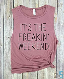 It's the Freakin Weekend, Good Vibes Only, Vacay Mode, The Beach Is Calling, Muscle Tank, Beach Tank, Vacation Tanks, Vacay Tanks, Beach Tanks for Women