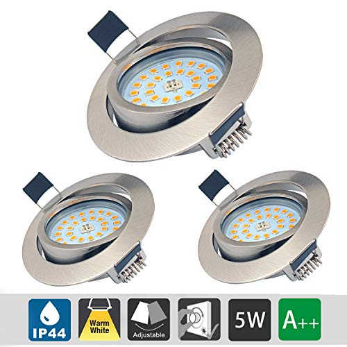 5W LED Empotrable Foco de Techo LED IP44 3000K Blancos Cá