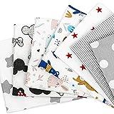 Tela algodon Telas Patchwork 7 piezas 50 x 80 cm - Retales Tela para coser, Telas decorativas Costura y Manualidades por metros OEKO-TEX (Multicolore 4, 7 piezas 50 x 80 cm)