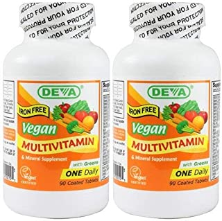 Deva Vegan 1-A-Day Multi (Iron-Free) 90 Tabs