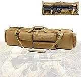 YUnZhonghe Bolsa de Pistola de Rifle Largo Doble, Bolsa de Caza táctica con Material de Nylon, Base Fija, Gran Capacidad, Airsoft Case para Escalar, Pescar, Acampar, Caza