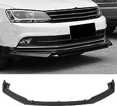 MotorFansClub 3pcs Front Bumper Lip for VW Jetta 2015-2018 Splitter Trim Protection Spoiler, Matte Black