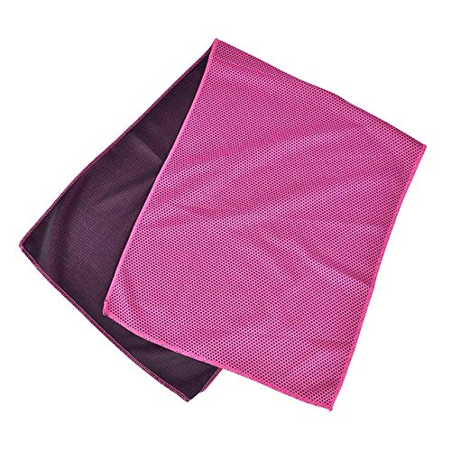 MAWA Toalla Deportiva portátil de Microfibra de Secado rápido, paño de Viaje, Toalla para Acampar, natación, Gimnasio - Rosa Rojo