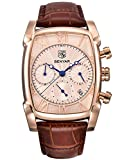 BENYAR Chronograph Men's Watch (Gold Dial Brown Colored Strap)