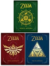 The Legend of Zelda Collection 3 Books Set - Hyrule Historia, Encyclopedia, Art and Artifacts