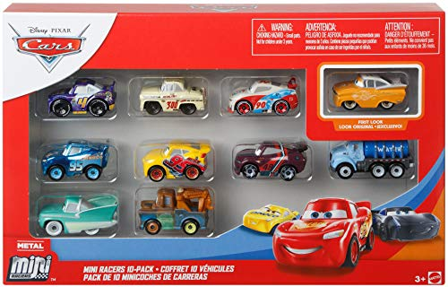 Disney Cars Mini Racer 10-Pack Confezione Mini MACCHININE da Corsa GKG69