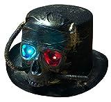 Brandsseller Totenkopf Hut Zylinder leuchtende LED Augen - Karneval Kostüm Fasching Halloween Party Totenkopf Bronze