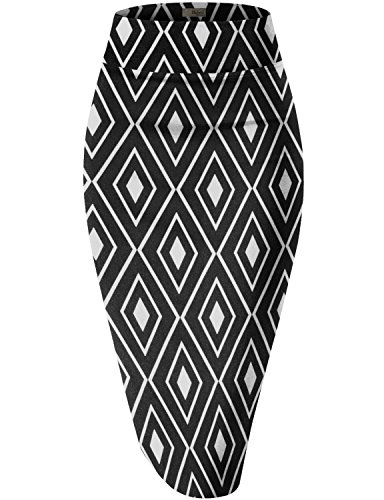 Hybrid & Company Womens Pencil Skirt for Office Wear KSK43584 10672 Black XL
