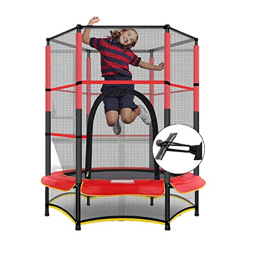 XDKQ 55Inch Trampoline Jumper for Toddler/Baby/Kids, Equipped with 3M Safety Net,and Thicken Pad, Indoor Outdoor Trampolines Family Entertainment Best Project