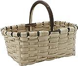 Gp cesta setas labrador 39x28 cm, madera, castaño