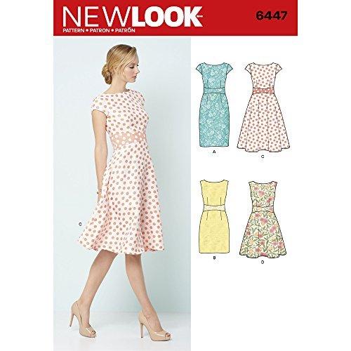 New Look 6447A–Cartamodello Vestiti da Donna, Colore: Bianco.