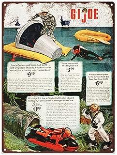 1966 Gi Joe Space Capsule Scuba Sea Diver Ad Metal Sign Repro 12