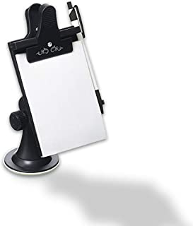 VaygWay Car Note Pad Holder-Memo Pad Clip Pen Clipboard- Mount Dashboard Suction Flexible Neck- Office Paper Notebook Writing