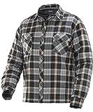 JOBMAN Workwear Men's Quilt-Lined Flannel Shirt, Dark...
