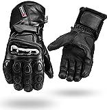 Guantes para moto de piel impermeables (perfectos para invierno, cuero),...