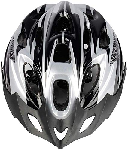 Unbekannt Fahrradhelm Sturzhelm Gebirgsfahrradhelm 18 Vents Fahrradhelm Bequeme Schutzhelm for Outdoor-Sport-Reitfahrrad (Farbe: E blau-Free) (Color : SilverFree)
