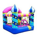 FGVDJ Aufblasbarer Türsteher Kids Bounce House Aufblasbarer Trampolinkorb mit Inflator für Alter...