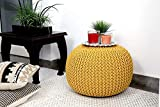 Round Ottoman Bean Filled Stool for Foot Rest Home Furniture. Handloom Puff Stool : Size : 12 X 16 IN Material : Heavy Dori Super and Artistic Collection Quality Product for Quality Lovers Care Instructions : Easy to Wash And Clean