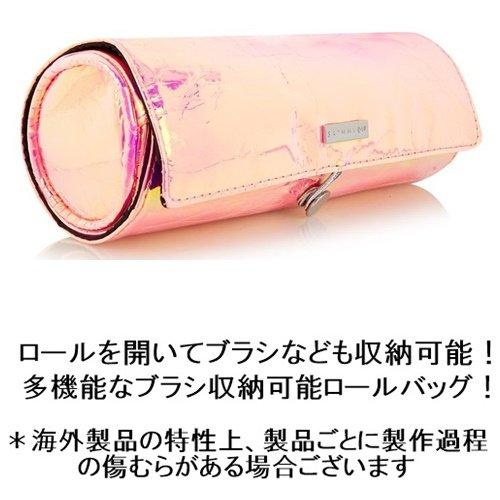 skinnydipスキニーディップメイクブラシケース筒型ピンク巻き付け