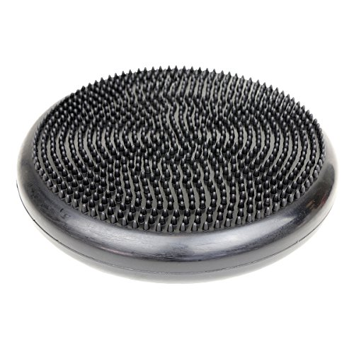 """Cando-30-1870 CanDo Inflatable Balance Disc for Balance Training, Proprioception, Strengthening Lower Extremities, Posture, Back Pain, Stress Relief, Restlessness and Anxiety. Black, 14"""" Diameter"""