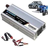 Lounger Inversor automático de Onda sinusoidal Pura 1000W/1200W/1500W/2000W Convertidor de Voltaje DC 12V/24V a AC 110V/220V Convertidor - Convertidor inversor con Enchufe