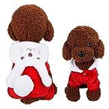 Sudadera para Mascotas, Ropa para Perros Sudaderas con Capucha Diseño De Conejo Ropa Cálida para Otoño E Invierno Al Aire Libre Ropa para Mascotas Cachorros (Rojo, S)