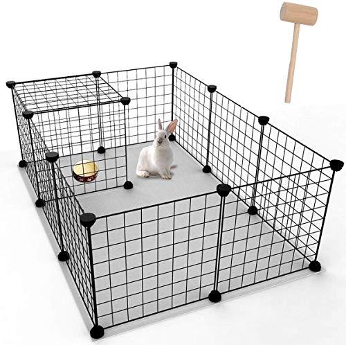 YOUKE Box per Cani, Animali Domestici Recinto di Filo Metallico Portatile, Antiruggine per Animali Piccoli e Medi - Anche per Conigli e Cuccioli (12 Pannelli)
